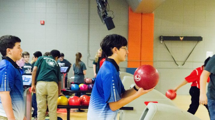 Two Students Bowling
